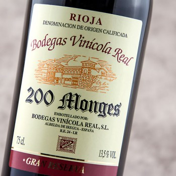 200 monges gran reserva 2001 comprar vino tinto gran reserva rioja bodegas vin cola real. Black Bedroom Furniture Sets. Home Design Ideas