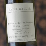 Ratzenberger Bacharacher Kloster Fürstental Riesling Auslese 1992 - 50 Cl