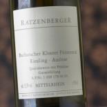 Ratzenberger Bacharacher Kloster Fürstental Riesling Auslese