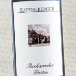 Ratzenberger Bacharacher Posten Riesling Spã¤tlese 2001 Magnum